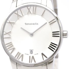 Tiffany & Co. Atlas Z1800.11.10A21A00A Quartz Stainless Steel 37mm Mens Dress Watch