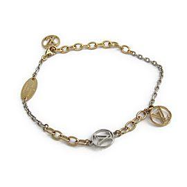 Louis Vuitton Gold & Silver Tone Hardware Logomania Bracelet
