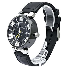 Louis Vuitton Tambour Q113I Stainless Steel 41mm Mens Watch