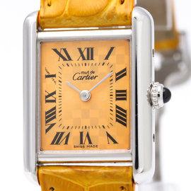 Cartier Must Tank W1017654 Quartz Stainless Steel 22mm Womens Dress Watch