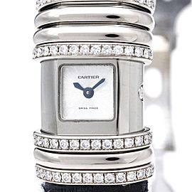 Cartier Declaration WT000450 Titanium / 18K White Gold Quartz 16mm Womens Watch