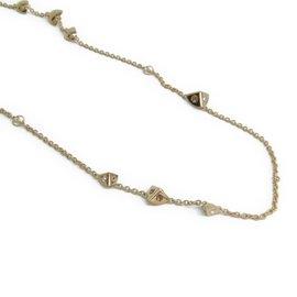 Louis Vuitton Gold Tone Metal Swarovski Trunkies Necklace