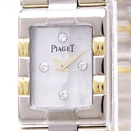 Piaget Dancer 15217 18K White & Yellow Gold Quartz 14mm Womens Watch