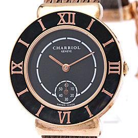 Philippe Charriol Saint Tropez ST30 Pink Gold Plated Quartz 30mm Womens Watch