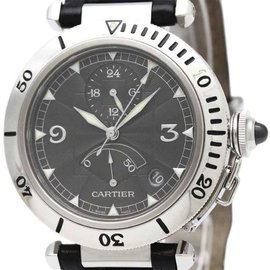 Cartier Pasha W3105055 Platinum and Stainless Steel Automatic 38mm Mens Dress Watch