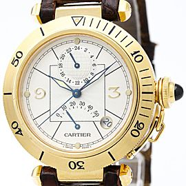 Cartier Pasha W3014456 18K Yellow Gold Automatic 38mm Mens Dress Watch