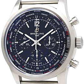 Breitling Transocean AB0510 Stainless Steel Automatic 46mm Mens Sports Watch