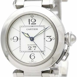 Cartier Pasha C Big W31055M7 Date Stainless Steel Automatic 35mm Unisex Watch