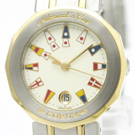 Corum Admirals Cup 39.610.21 Stainless Steel and 18K Yellow Gold Quartz 26mm Womens Dress Watch