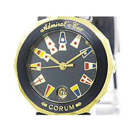 Corum Admirals Cup 39.610.31 18K Yellow Gold and Stainless Steel 26mm Womens Watch