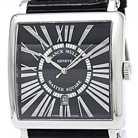 Franck Muller Master Square 6000 K SC DT REL R Stainless Steel & Leather Automatic 42mm Mens Watch