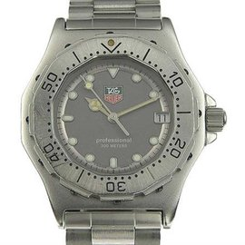 Tag Heuer Professional 932.213 Stainless Steel Gray Dial Quartz 35mm Mens Watch