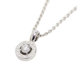 Bulgari Bvlgari 18K White Gold with Diamond Pendant Necklace