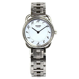 Hermes Arceau AR 3.210 Stainless Steel Quartz White Womens 25mm Watch
