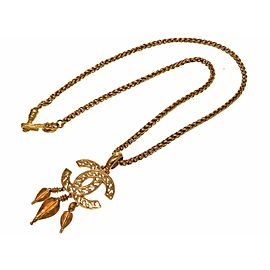 Chanel Gold Tone Hardware Vintage Necklace
