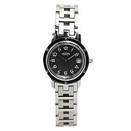 Hermes Clipper Cl 4.210 Stainless Steel Quartz Gray Womens 24mm Watch
