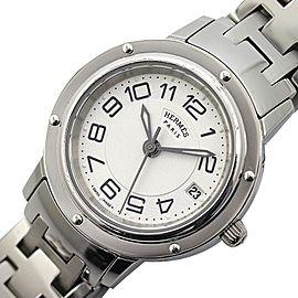 Hermes Clipper CP1.210 Stainless Steel Quartz White Womens 24mm Watch
