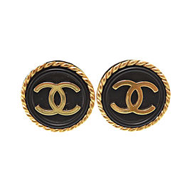 Chanel Gold Tone Hardware Vintage Earrings