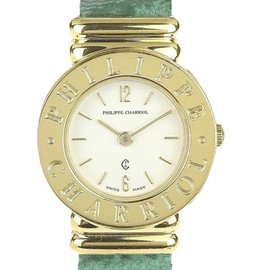Philippe Charriol St. Tropez 7007901 Gold Tone Stainless Steel 25mm Womens Watch