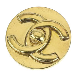 Chanel Gold Tone Hardware Brooch