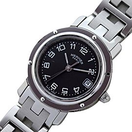 Hermes Clipper Cl 4.210 Stainless Steel with Gray Dial Quartz Womens 24mm Watch