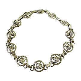Versace Vintage Silver Tone Hardware Necklace