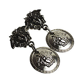 Versace Silver Tone Hardware Earrings