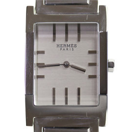 Hermes Tandem Ta 1.710 Stainless Steel Quartz Mens Watch