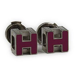 Hermes Silver Tone Hardware Earrings