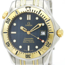 Omega Seamaster Stainless Steel & 18K Yellow Gold Quartz 36mm Mens Watch