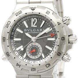 Bulgari Diagono DP42S GMT Stainless Steel Mens 42mm Watch