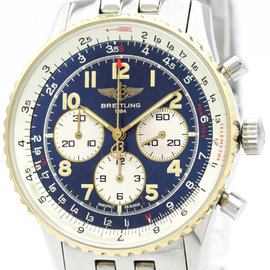 Breitling Navitimer D30021 Stainless Steel & 18K Yellow Gold Automatic 38mm Mens Watch