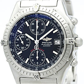 Breitling Chronomat A13050.1 Stainless Steel Black Dial Automatic 40mm Mens Watch