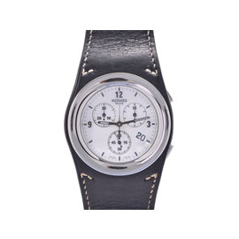 Hermes Anechrono Ha 4.910 Stainless Steel / Leather Quartz Mens Watch