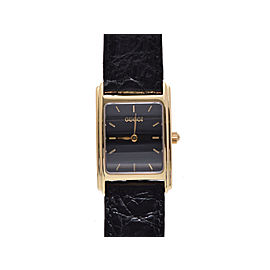 Gucci 715l Yellow Gold and Leather Quartz Womens 20x31mmWatch