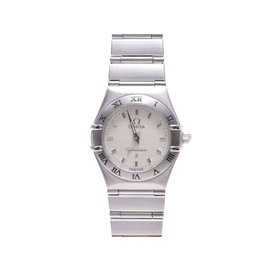 Omega Constellation Stainless Steel Ivory Dial Quartz 21mm Womens Watch