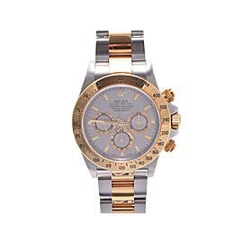 Rolex Daytona 16523 Stainless Steel & Yellow Gold Gray Dial Automatic 38mm Mens Watch