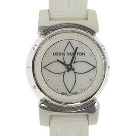 Louis Vuitton Tambour Q151C Stainless Steel / Leather Quartz 30mm Womens Watch