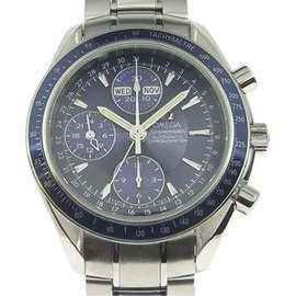 Omega Speedmaster 3222.80 Stainless Steel with Blue Dial 38mm Mens Watch