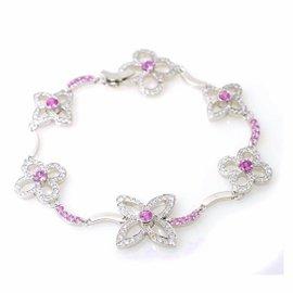 Louis Vuitton Louis Crackant 18K White Gold Diamond and Sapphire Bracelet