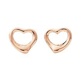 Tiffany & Co. 18K Rose Gold Open Heart Earrings