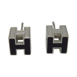Hermes Silver Tone Hardware Cage D Earrings