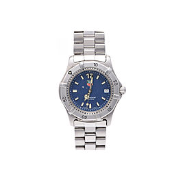 Tag Heuer 2000 Series Professional WK1213 Stainless Steel Quartz 34mm Mens Watch