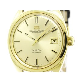 IWC Yacht Club C.8541B 18K Yellow Gold and Leather 36mm Unisex Watch
