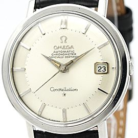 Omega Constellation 168.004 Stainless Steel and Leather Automatic 35mm Mens Watch