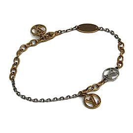 Louis Vuitton Silver & Gold Tone Hardware Logomania Bracelet