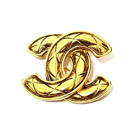 Chanel Gold Tone Hardware Coco Mark Matrasse Vintage Brooch