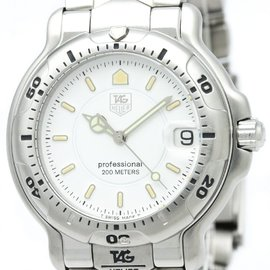 Tag Heuer 6000 WH1111 Stainless Steel Quartz 38mm Mens Watch