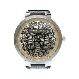 Louis Vuitton Q1D060 Stainless Steel / Leather Quartz 39mm Mens Watch