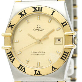 Omega Constellation 396.1070 Stainless Steel & 18K Yellow Gold Quartz 33mm Mens Watch
